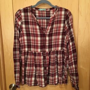 Flannel Plaid Baby Doll Button Down